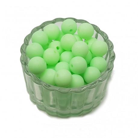 Koraliki plastikowe kulki matowe 10mm - jasny zieleń