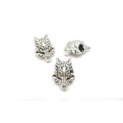 Przekładka wilk 18x13mm cyna - srebrny