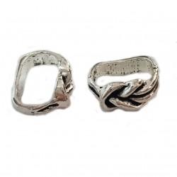 Przekładka ozdobna 13x10mm cyna - srebrny