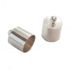Końcówki do wklejania 16mm miedź - srebrny / 2 szt