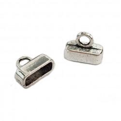 Końcówki do wklejania 10,5x3,5mm cyna - srebrny / 2 szt