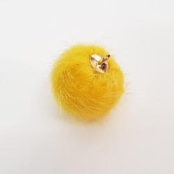 Pompon zawieszka 15mm - żółty