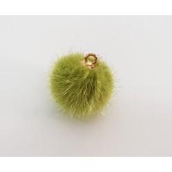 Pompon zawieszka 15mm - zielony