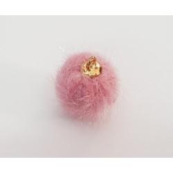Pompon zawieszka 15mm - różowy