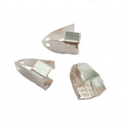 Zakończenie zaciskowe do sznurków 11x7mm - srebrny /10szt