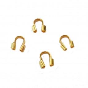 Podkówka/osłonka do biżuterii 5x4mm - złoty