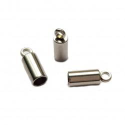 Końcówki do wklejania stal nierdzewna 4mm - platynowy /2szt