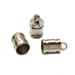 Końcówki do wklejania stal nierdzewna 5mm - platynowy /2szt