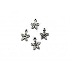 Zawieszka kwiatek 13,5x10,5mm cyna - srebrny