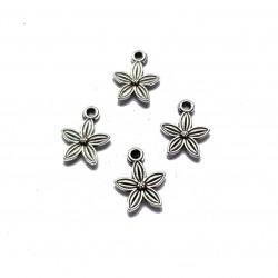Zawieszka kwiatek 13,5x10,5mm cyna - srebrny /3szt