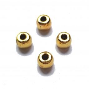 Przekładka beczułka 6x5mm cyna - złoty