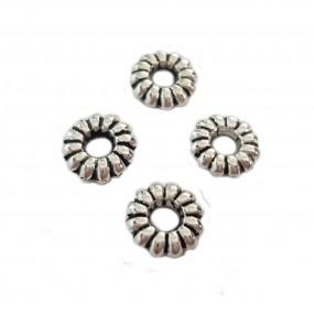 Nakładka/przekładka ozdobna 6,5mm cyna - srebrny