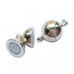 Zapięcie magnetyczne kulka 12x6mm srebrny cyna