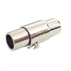 Zapięcie magnetyczne z zabezpieczeniem 15x6mm średnica otworu 4mm cyna
