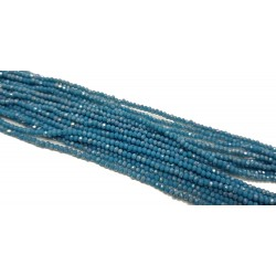 Koraliki szklane fasetowane 3x2mm morska zieleń AB sznur