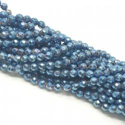 Hematyt 3mm fasetowana kulka niebieski - sznur
