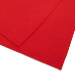 Filc arkusz 30x20cm grubość 1mm - czerwony
