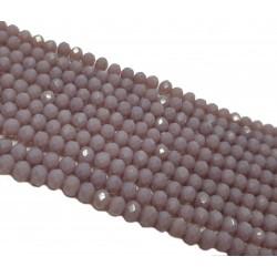 Koraliki szklane fasetowane 4x3mm sznur - śliwkowy