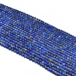 Lapis lazuili 2mm fasetowana kulka  sznur