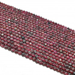 Granat kulka fasetowana 3mm - sznur