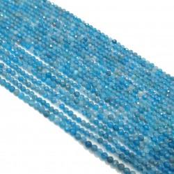 Apatyt 2mm fasetowana kulka niebieski - sznur