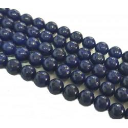 Lapis lazuli ok. 5mm gładka kulka - sznur