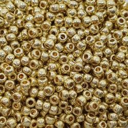 Koraliki TOHO Round TR-11-PF559 Permanent Finish - Galvanized Yellow Gold - 10g