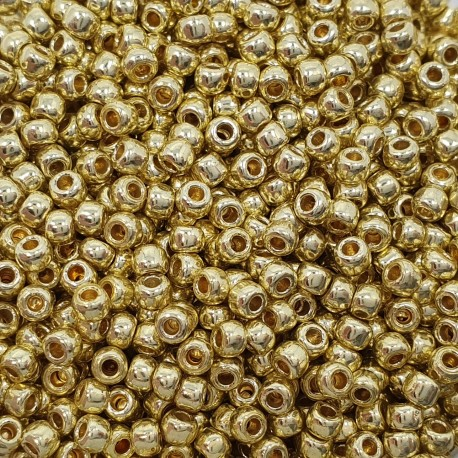 Koraliki TOHO Round TR-11-PF559 Permanent Finish - Galvanized Yellow Gold - 10g