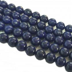 Lapis lazuli ok. 7mm gładka kulka - sznur