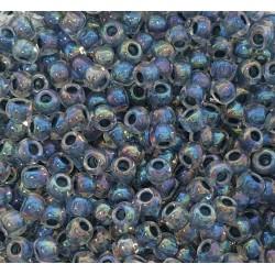 TOHO Round TR-11-773 Inside-Color Rainbow Crystal-Montana Blue Lined - 10g