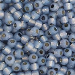 Toho Round TR-11-PF2102 PermaFinish - Silver-Lined Milky Montana Blue - 10g