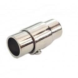 Zapięcie magnetyczne z zabezpieczeniem 9x18mm , średnica otworu 8mm stop cyny