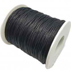 Sznurek woskowany bawełniany 1mm - czarny