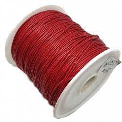 Sznurek woskowany bawełniany 0,65mm - czerwony