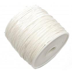 Sznurek woskowany bawełniany 0,65mm - biały