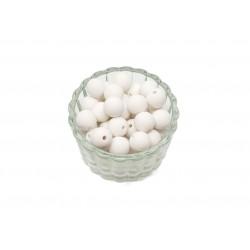 Koraliki plastikowe kulki matowe 10mm - biały