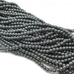 Hematyt 4mm gładka kulka hematytowy - sznur