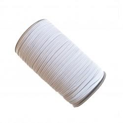Gumka / guma eslastyczna płaska do maseczki 6mm biała - 10m
