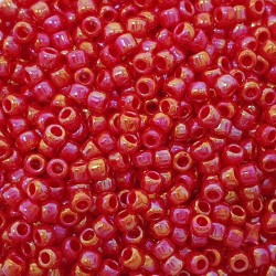 Toho Round 11/0 TR-11-405 Opaque-Rainbow Cherry - 10g
