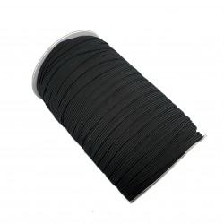 Guma / gumka eslastyczna płaska do maseczek  6mm czarna  - 10 metrów