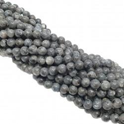 Labradoryt 6mm gładka kulka - sznur