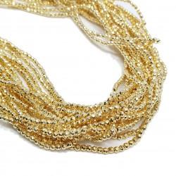 Hematyt 2mm fasetowana kulka złoty  - sznur