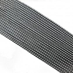 Hematyt 4mm gładka kulka srebrny platynowy - sznur