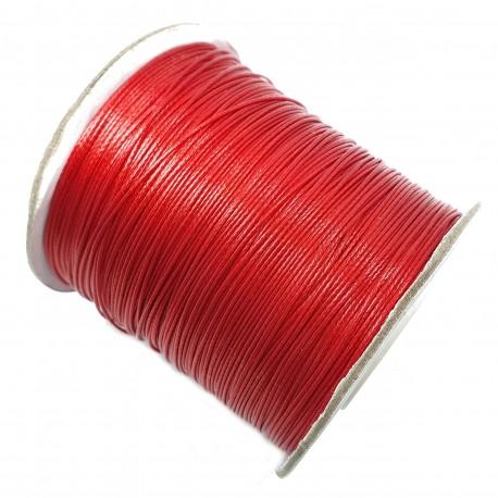 Sznurek jubilerski powlekany topliwy 0,5mm czerwony - 4 metry