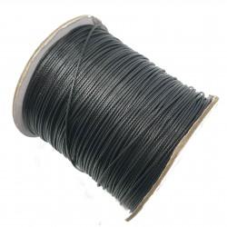 Sznurek jubilerski powlekany 1mm - czarny