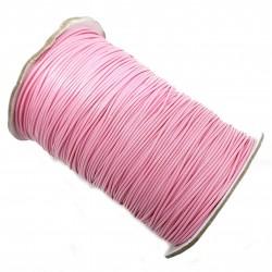 Sznurek jubilerski powlekany 1mm - różowy