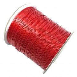 Sznurek jubilerski powlekany 1mm - czerwony / 4m