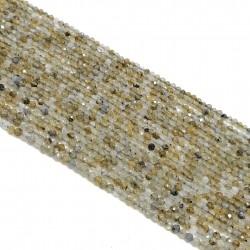Labradoryt 2mm fasetowana kulka - sznur
