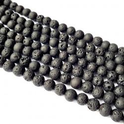 Lawa wulkaniczna 10mm kulka sznur - czarny