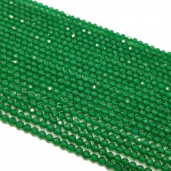 Szmaragd 2mm fasetowany kulka sznur